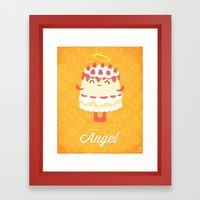 Angel Cake Framed Art Print