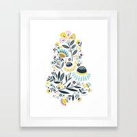 Geo Garden Framed Art Print