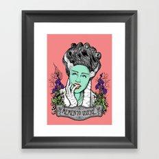 Memento Vivere Framed Art Print