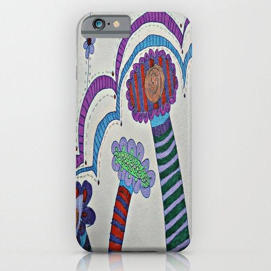 Doodle Flowers iPhone & iPod Case