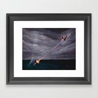 Bazooka Whale Framed Art Print
