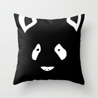 Black Panda Throw Pillow