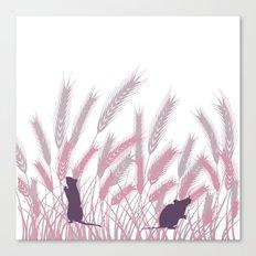 Mice In The grain No. 3 Canvas Print