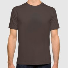 Tosca line art bird illustration Mens Fitted Tee Brown SMALL