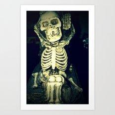 Mr. Bones Art Print