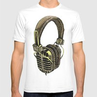 HEAD PHONE Mens Fitted Tee White SMALL