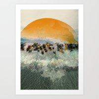 Near Harbor Art Print