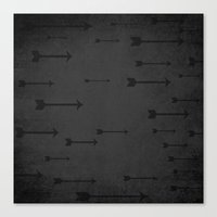 Loxley In Onyx - Arrows Canvas Print
