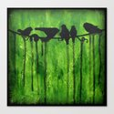 Urban Birds - Birds on a Wire Canvas Print