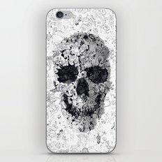 Doodle Skull BW iPhone & iPod Skin