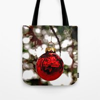 Simple Christmas Bulb Tote Bag