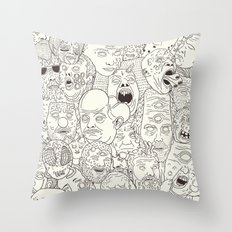 Faces Of Math (no Color … Throw Pillow