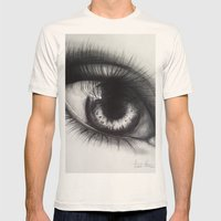 Eye Sketch 1  Mens Fitted Tee Natural SMALL