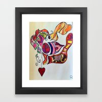 The Spirit of the Color Red Framed Art Print
