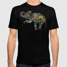 asian elephant white Mens Fitted Tee SMALL Black