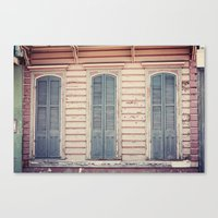 Three Shutters - New Orleans French Quarter Canvas Print