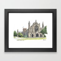 St. Albans Cathedral Framed Art Print