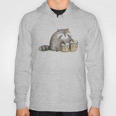 Raccoon on Bongos Hoody