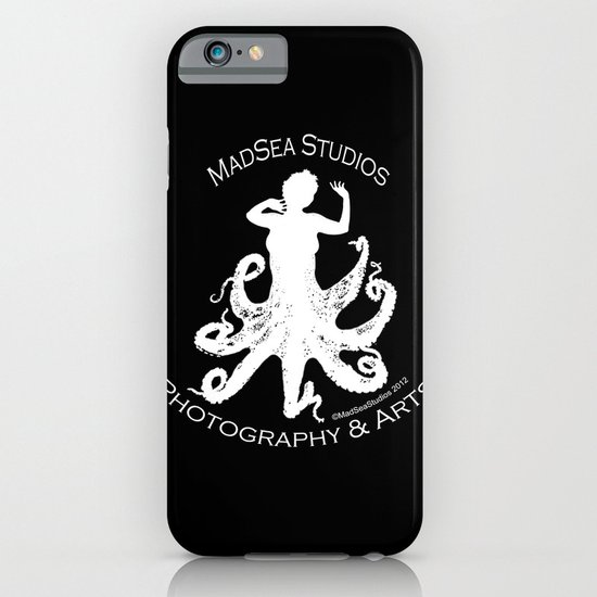 MadSea Nymph, white on black iPhone & iPod Case