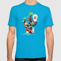 Fox Twins Mens Fitted Tee Teal SMALL