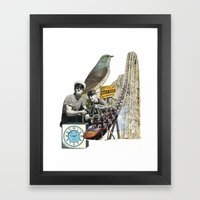 Navigate The Roller Coaster Ride Of Life Framed Art Print