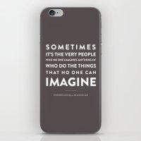Imagine - Quotable Serie… iPhone & iPod Skin