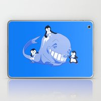 penguins and a whale Laptop & iPad Skin