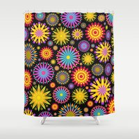 Bright And Colorful Flowers Shower Curtain