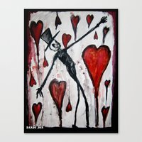 The Death of Hearts Canvas Print