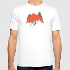 Party In The Mountains//Seven White SMALL Mens Fitted Tee
