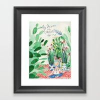Mexican Princess Thinks … Framed Art Print