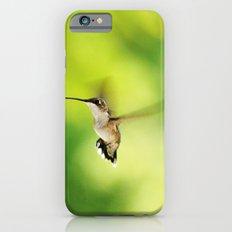 Hummingbird at the Flowers iPhone 6 Slim Case