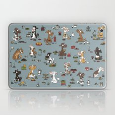 Retro cows - blue Laptop & iPad Skin
