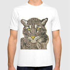 Clouded Leopard Mens Fitted Tee White SMALL