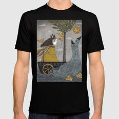 Day on the River SMALL Mens Fitted Tee Black