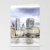 City Of London And River… Stationery Cards