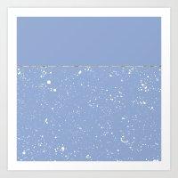 XVI - Blue 1 Art Print