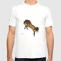 HORSE - Gypsy Mens Fitted Tee White SMALL
