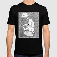 YOLO Alice Mens Fitted Tee Black SMALL