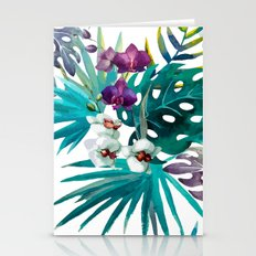 Tropical Watercolor Pattern Stationery Cards