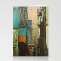 retro Stationery Cards featuring ESCAPE ROUTE by Liz Brizzi