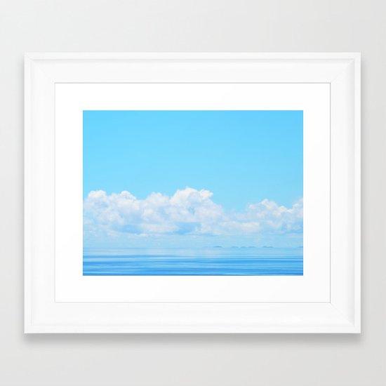 Pacific blues Framed Art Print