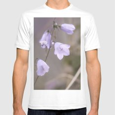 Lilac Bells White SMALL Mens Fitted Tee