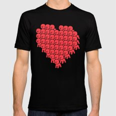 Heart Bichon Mens Fitted Tee Black SMALL