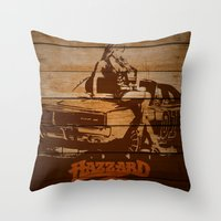 Hazzard Wood Throw Pillow