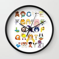 Child Of The 80s Alphabe… Wall Clock