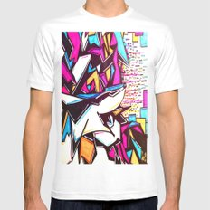Blockage Mens Fitted Tee White SMALL
