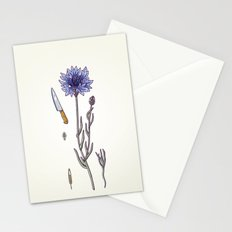 blue cornflower and knife Stationery Cards