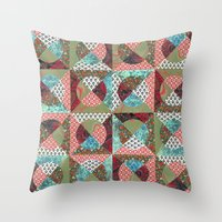 collage mix paper Throw Pillow