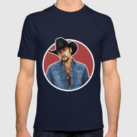 Big Tim Mens Fitted Tee Navy SMALL